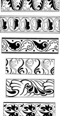 复古花饰边框
