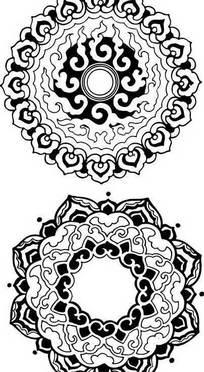 古典吉祥团花纹样