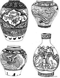 古董瓷器图案