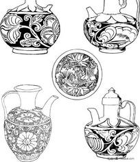 陶瓷茶壶图纹