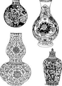 陶瓷工艺品花纹