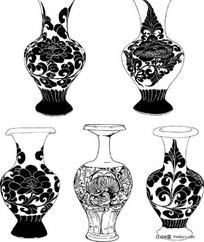 陶瓷花瓶花卉装饰性图案