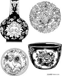 陶瓷器花卉图案