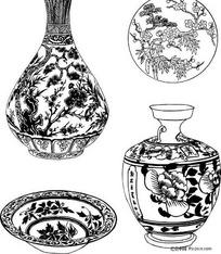 陶瓷器花卉图形