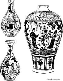陶瓷器上的典故花纹