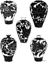 陶瓷器植物花纹