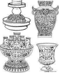 原始青铜器酒樽图腾