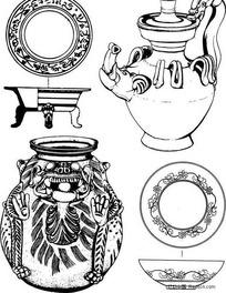 原始青铜器容器图腾