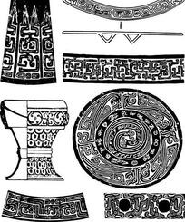 原始樽纹图形