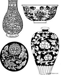 中国瓷器图案