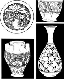 中国古老陶瓷装饰图纹