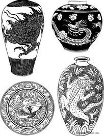 中国陶器图案