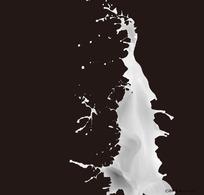 飞溅的奶花PSD特写