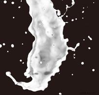 飞溅的奶花图片