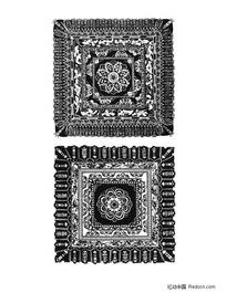 佛教方形适合纹样素材