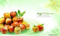 红苹果广告展板模板