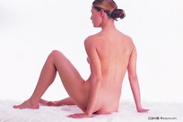 裸体美女背部照