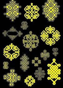 蒙古族花纹素材