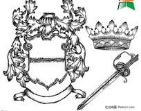 欧式古老皇冠