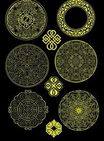 蒙古族花纹PSD图片