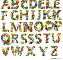 26个花纹英文字母