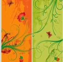 蔓藤花朵与蝴蝶