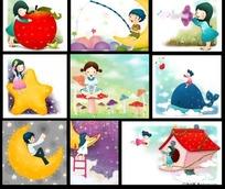 儿童节卡通人物图片素材