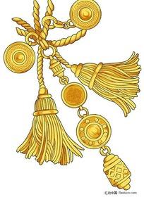 金色窗帘吊坠