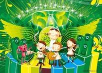 六一儿童节素材 舞台设计