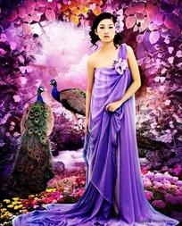 紫色极品美女