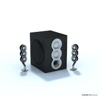 3D精致音响模型