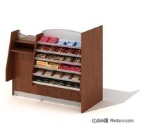 商场货物展示柜三维模型
