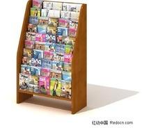 商场书籍展示柜3D模型
