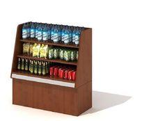 商场饮料展示柜3D模型