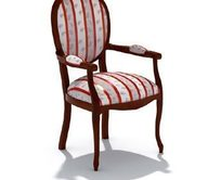 精美靠背软椅三维模型