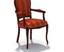 时尚靠背软椅三维模型