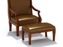 时尚软椅三维模型