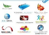 3D风格logo模板矢量素