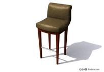 高脚靠椅3D模型