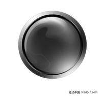 金属质感圆形水晶按钮