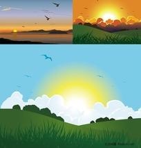 自然风景矢量素材