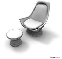 3D时尚沙发靠椅模型
