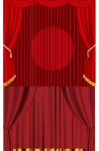 红色帷幕矢量