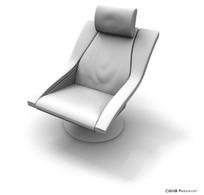 精美创意靠背软椅3D模型