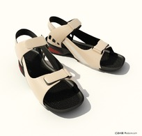 3D精致女式凉鞋模型