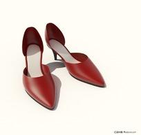3D时尚女式高跟鞋模型