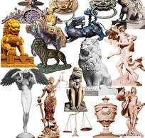 建筑雕塑--神话中的雕像