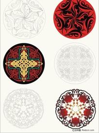4套传统花纹图案