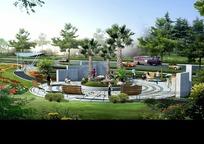 地产花园建筑效果图