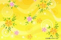 黄色活泼花纹